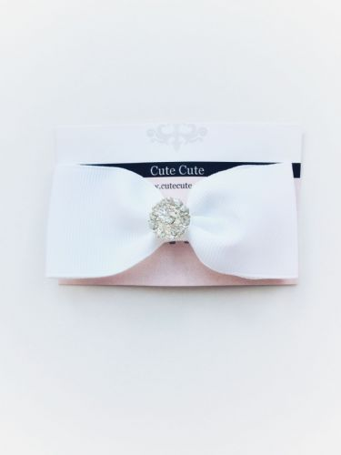 Cute Cute White Bow Clip